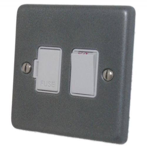 G&H CP57W Standard Plate Pewter 1 Gang Fused Spur 13A Switched